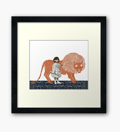 Pet Lion Framed Print