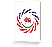 Welsh American Multinational Patriot Flag Series Greeting Card