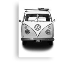 Volkswagen Kombi Newsprint BW © Canvas Print