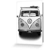 Volkswagen Kombi Newsprint BW © Greeting Card