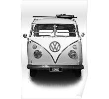 Volkswagen Kombi Newsprint BW Poster