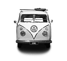 Volkswagen Kombi Newsprint BW © Photographic Print