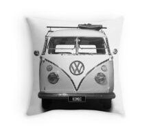 Volkswagen Kombi Newsprint BW © Throw Pillow