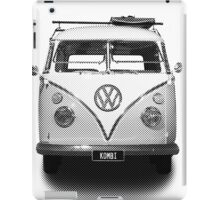 Volkswagen Kombi Newsprint BW iPad Case/Skin