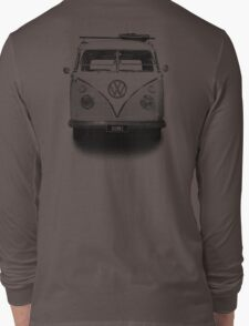 Volkswagen Kombi Newsprint BW © Long Sleeve T-Shirt