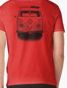 Volkswagen Kombi Newsprint BW © Mens V-Neck T-Shirt