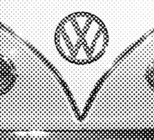 Volkswagen Kombi Newsprint BW © Sticker