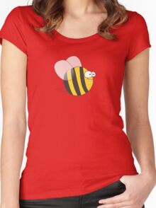 Cool & Crazy Funny Bee / Bumble Bee (Sweet & Cute) Women's Fitted Scoop T-Shirt