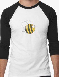 Cool & Crazy Funny Bee / Bumble Bee (Sweet & Cute) Men's Baseball ¾ T-Shirt