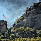Flag at Chimney Rock by Brian Gaynor
