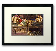 Man Does Not Live By Bread Alone Framed Print