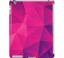 Abstract Polygon Multi Color Cubizm Painting in deep pink/purple  iPad Case/Skin