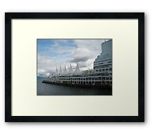 White Sails,  Vancouver, Canada Framed Print