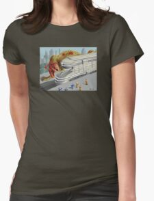 Zombie Charcharodontosaurus Womens Fitted T-Shirt