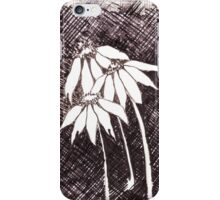 Daisies Black ink sketch iPhone Case/Skin