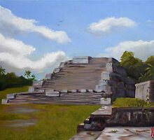 Mayan Pyramid at Atun Ha (Belize) by BobHenry