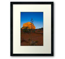 Sedona Sunset Court House Rock Framed Print