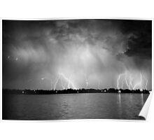 Lightning at the Lake Poster