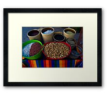 Down Town Marketplace Framed Print