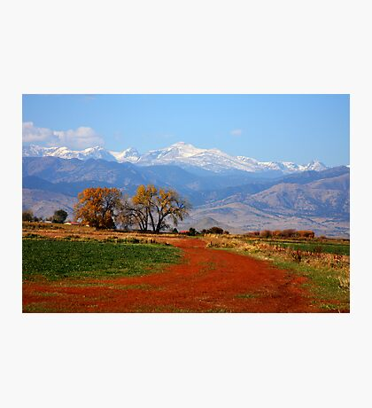 Rocky Mountains Red Road Photographic Print