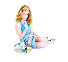 Cup Cake Grrl  Photographic Print