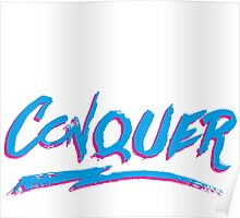 Conquer: 80's Hand-Rendered Type Poster