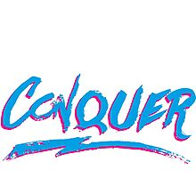 Conquer: 80's Hand-Rendered Type Photographic Print