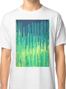 Green Grunge Color Splatter Graffiti Backstreet Wall Background  Classic T-Shirt
