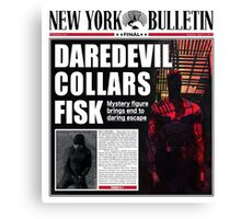 Daredevil Newspaper  Canvas Print