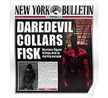 Daredevil Newspaper  Poster