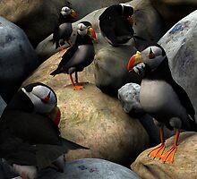 Sandeels on the Rocks by Ken Gilliland