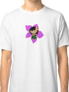 Aloha Honeys Hawaiian Hibiscus Hula Girl - Violet Classic T-Shirt