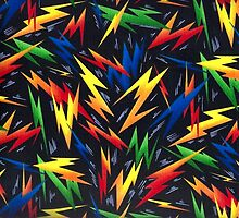 Colorful Lightning Bolts Pattern by HavenDesign