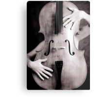 Naked cello Metal Print