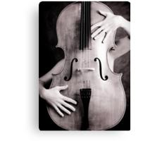 Naked cello Canvas Print