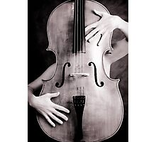 Naked cello Photographic Print