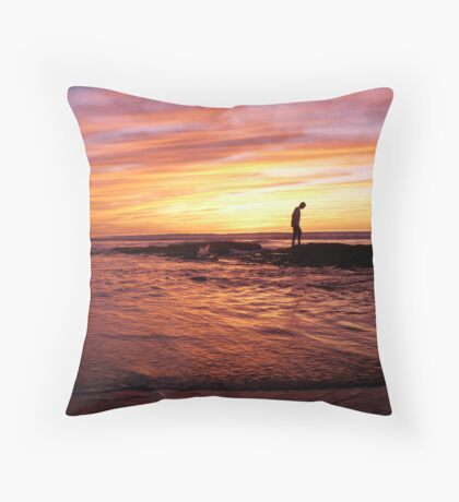 """Rainbow Sunset"" Throw Pillow"