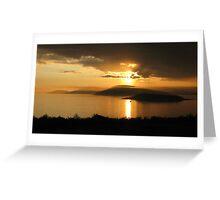 Sunset over the Marathon Harbor Greeting Card