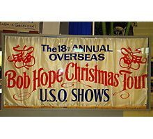 The 18th Annual Overseas Bob Hope Chirstmas Tour U.S.O. Shows Photographic Print