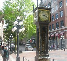 Steam Clock, Gastown, Vancouver by Anthea  Slade