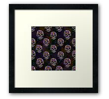 Colorful flowers and Skulls Framed Print