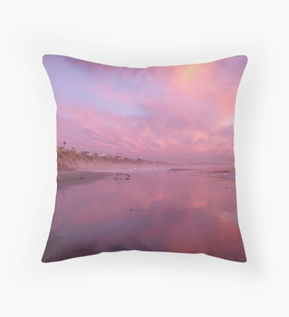 """Pink Sunset"" Throw Pillow"
