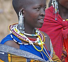 Maasai Woman ,Tanzania, Africa by Adrian Paul