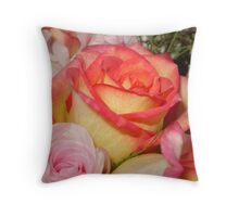 Multi-Hued Roses Throw Pillow