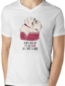 Puppy Love Mens V-Neck T-Shirt