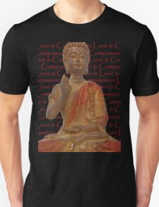 Red & Gold Buddha - Love & Compassion T-Shirt