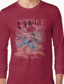 Smallville's Red Blue Blur! Long Sleeve T-Shirt