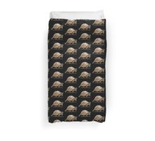 Marching Baby Tortoise Cartoon Vector Isolated Duvet Cover