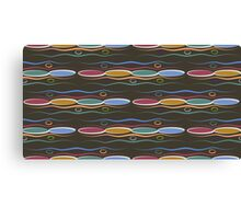 Ovals Pattern Texture Canvas Print