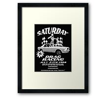 Saturday Night Drags Framed Print